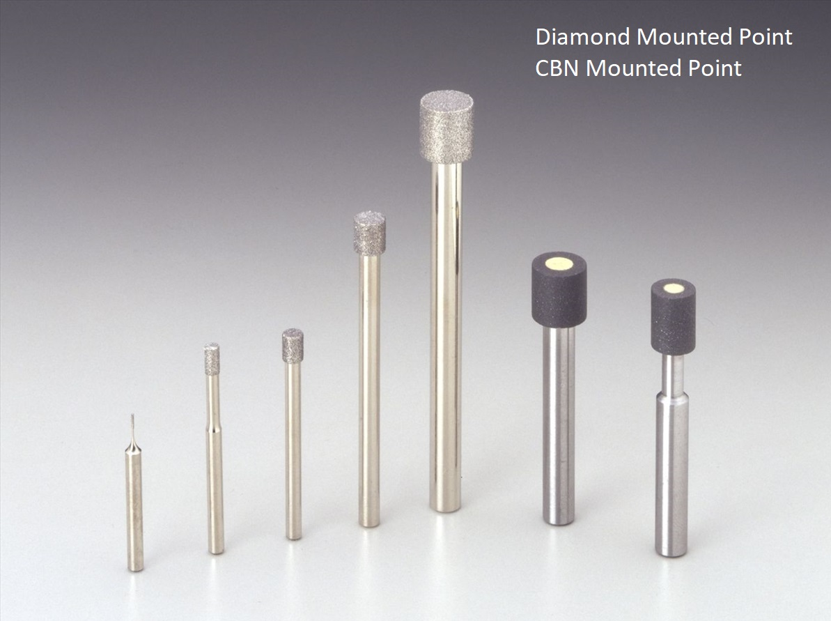 diamond-cbn mounted point